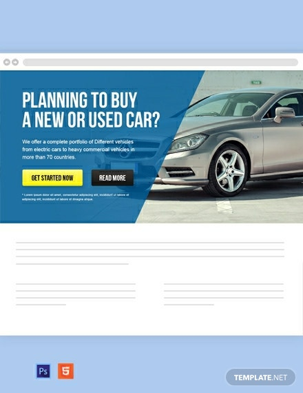 Free Automobile Website Header Template