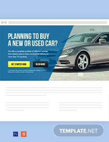 Automobile Website Header Template