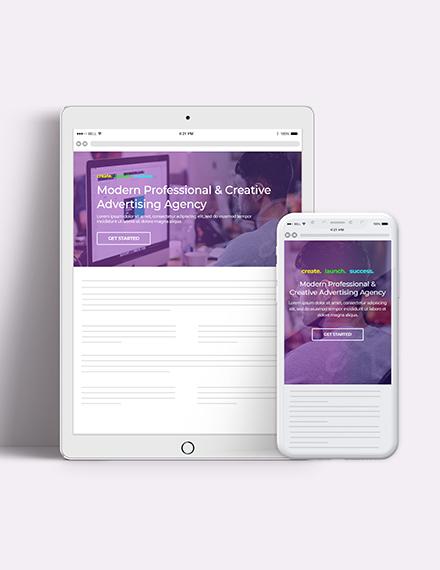 Creative Agency Website Header Download