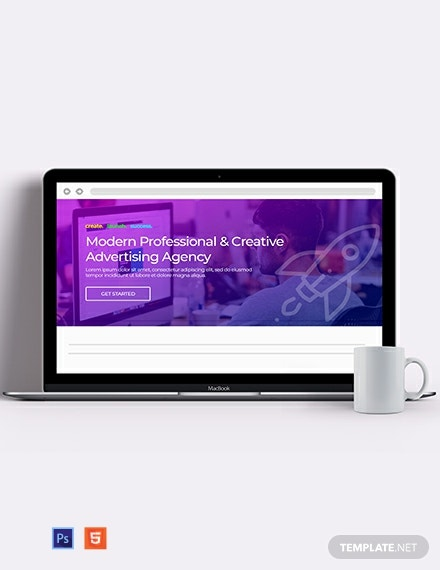 Creative Agency Website Header Template