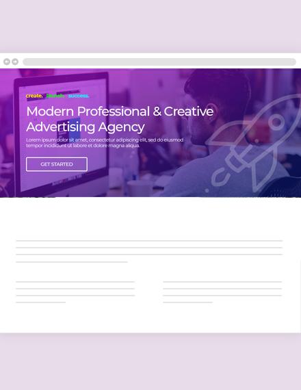 Creative Agency Website Header Template