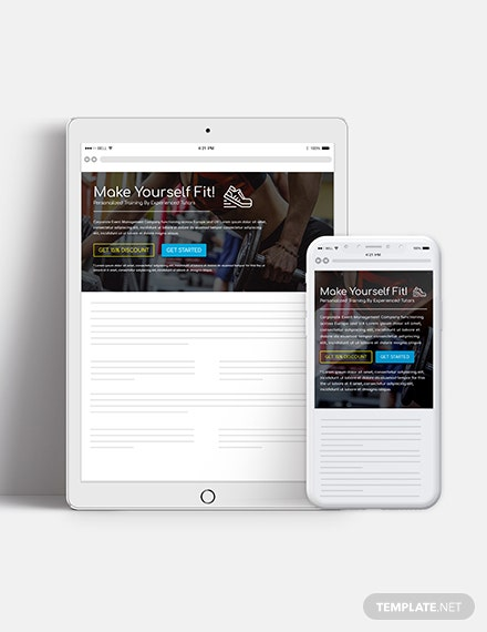 Fitness Website Header Download
