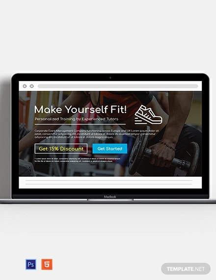 Fitness Website Header Template
