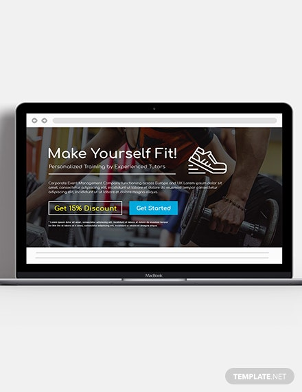 Fitness Website Header Template