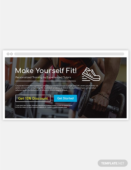 Sample Fitness Website Header