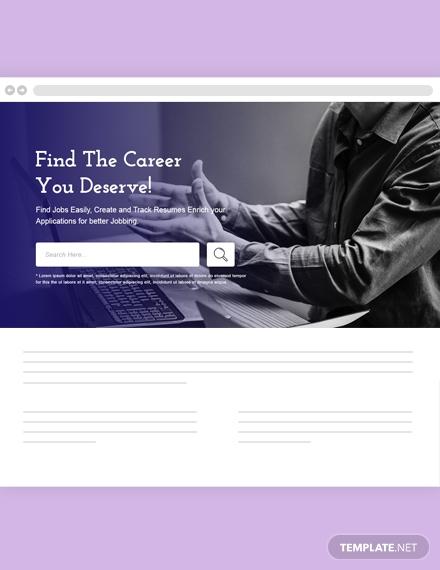 Jobs and Employment Header Template