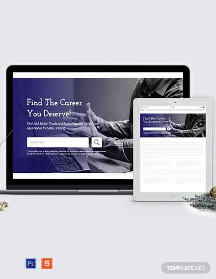 Jobs and Employment Header Template