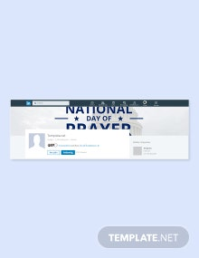 Free National Day of Prayer LinkedIn Company Cover Template