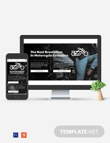 Motorcycles Website Header Template