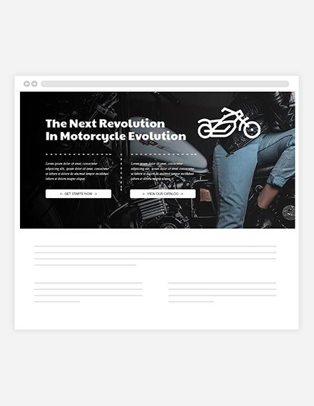 Motorcycles Website Header Template  - HTML5, PSD