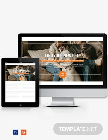Pets Website Header Template