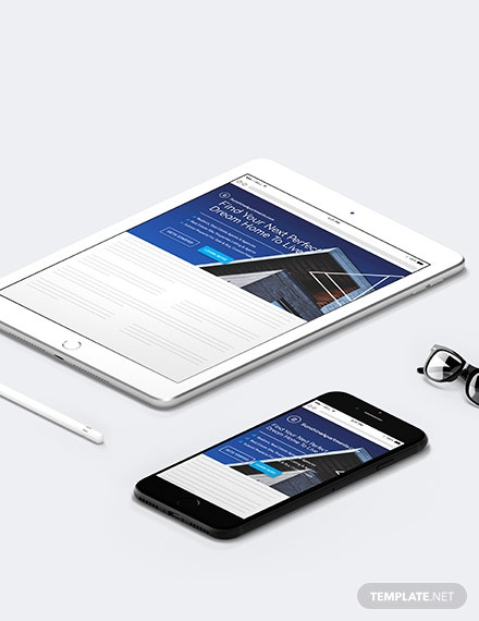 Real Estate Website Header Template  - HTML5, PSD