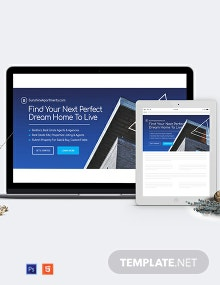 Real Estate Website Header Template