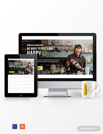 Restaurant Website Header Template