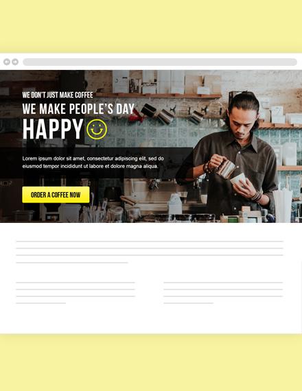 Restaurant Website Header Template