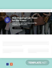 Shopping Website Header Template