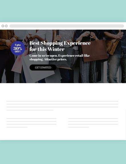 Free Shopping Website Header Template