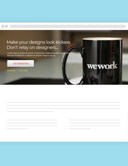 Web Design Agency Header Template