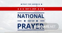 Free National Day of Prayer LinkedIn Post Template