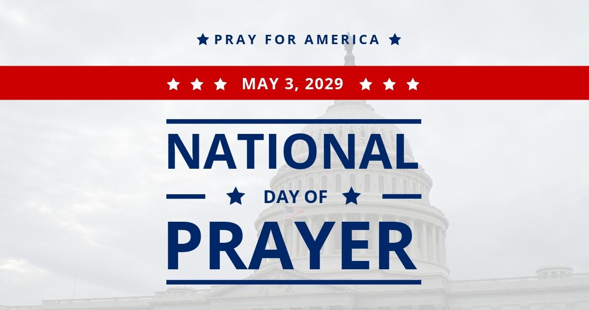 National Day of Prayer LinkedIn Post Template