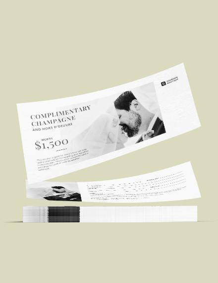 Sample Wedding Gift Voucher