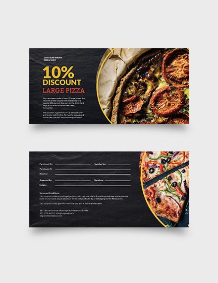 Pizza Shop Voucher Download
