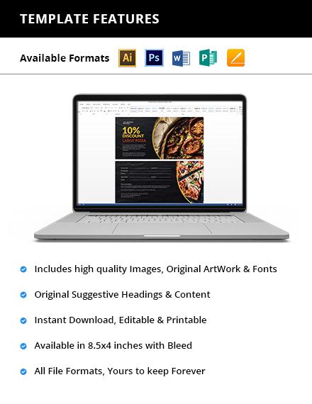 Pizza Shop Voucher Printable