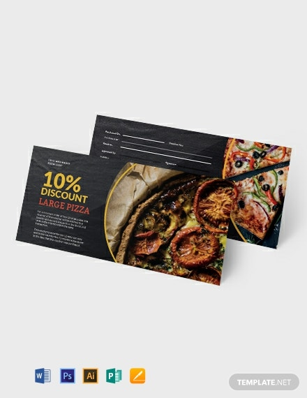 Pizza Shop Voucher Template