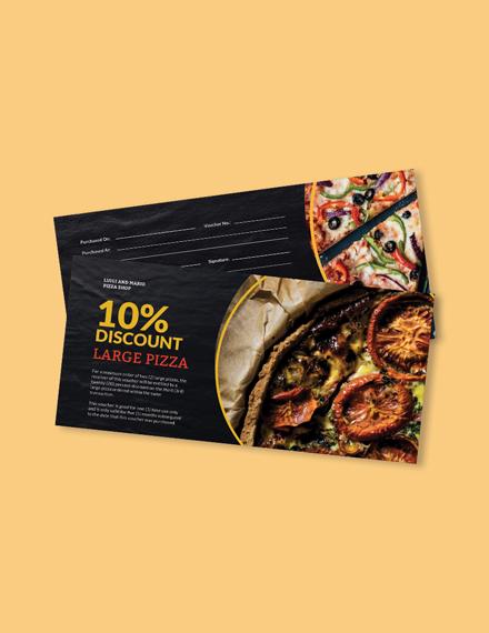 Pizza Shop Voucher Template