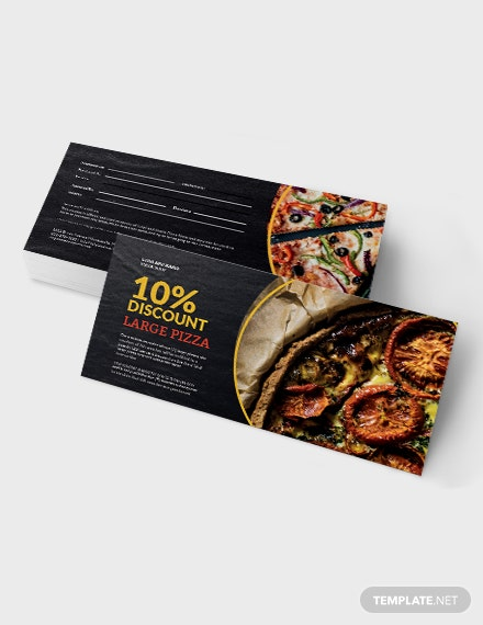 Sample Pizza Shop Voucher