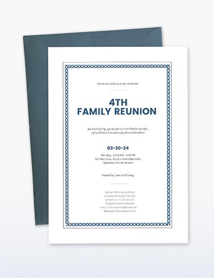 Reunion Invitation Download