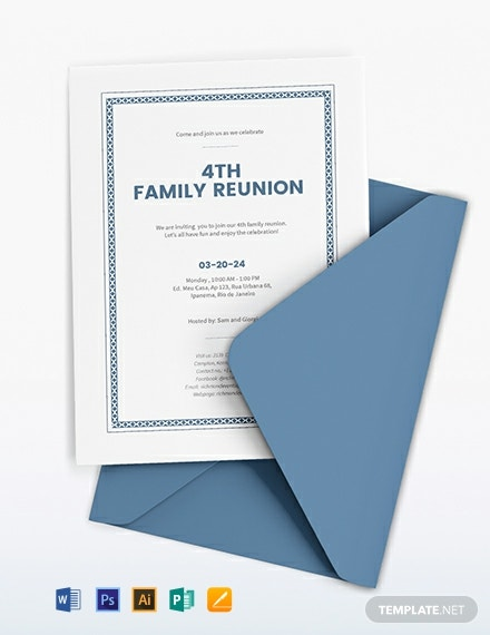 Reunion Invitation Template