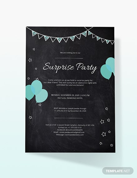 Sample Surprise Party Invitation