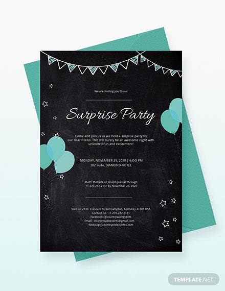 Surprise Party Invitation Download