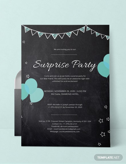 Surprise Party Invitation Template
