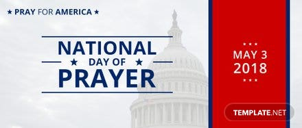 Free National Day of Prayer LinkedIn Profile Banner Template