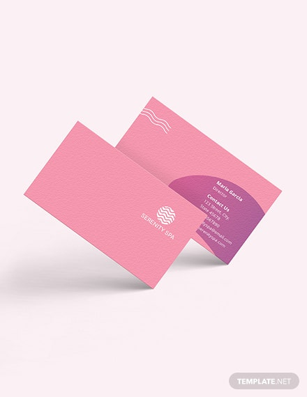 Spa Business Card Download