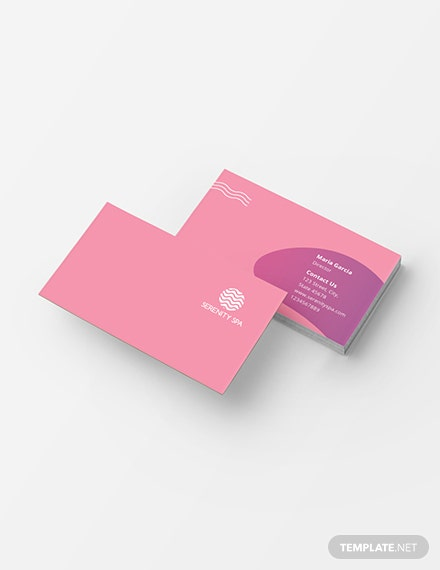 Spa Business Card Template