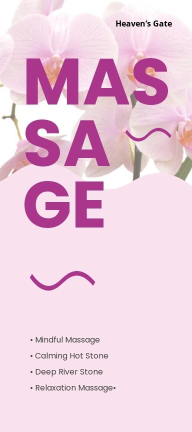 Massage DL Card Template