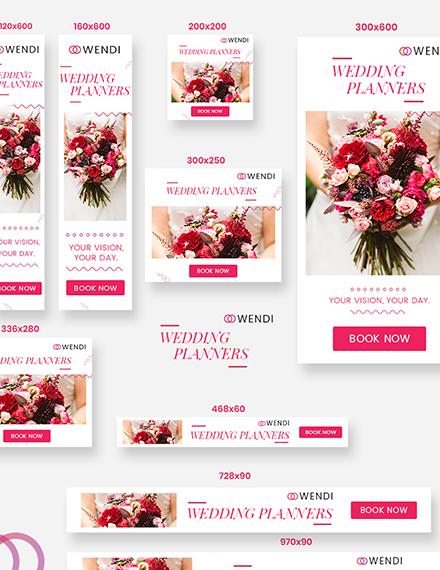 Sample Wedding Planners Web Ad