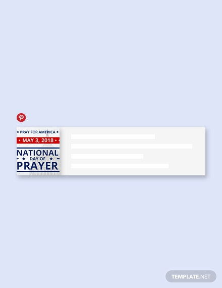 Free National Day of Prayer Pinterest Board Cover Template