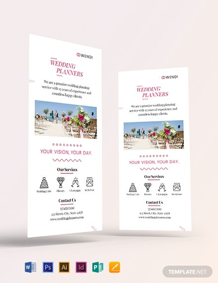 Wedding Planners Rack Card Template