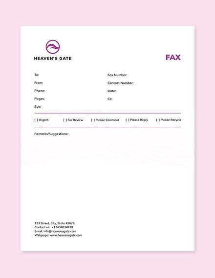 Massage Fax Paper Template