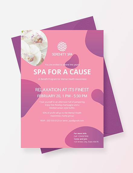 Spa Invitation Download