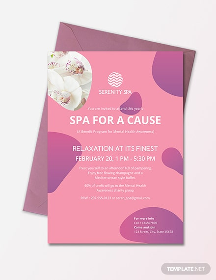 Spa Invitation Template