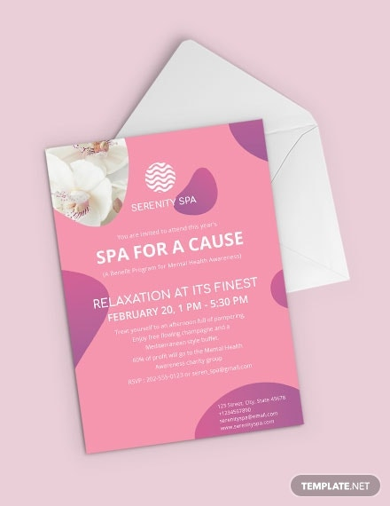 Spa Invitation Template