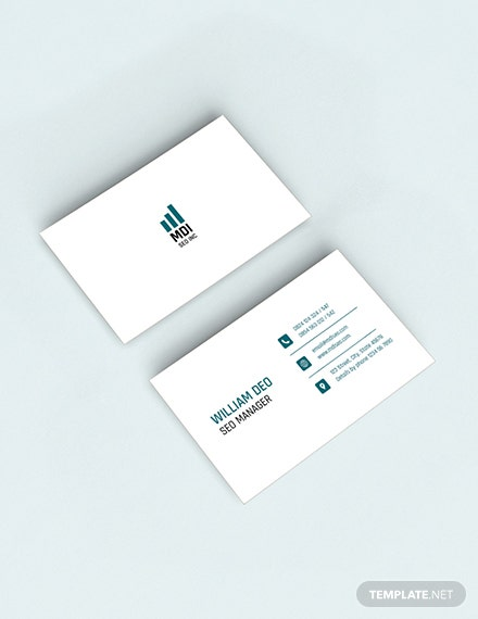 SEO Business Card Sample