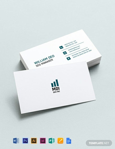 SEO Business Card Template