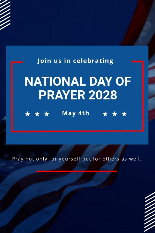 National Day of Prayer Pinterest Pin Template
