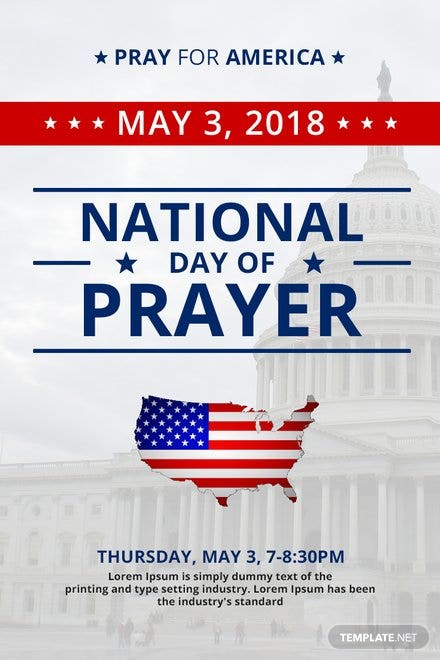 Free National Day of Prayer Pinterest Pin Template